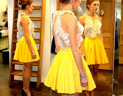 blaque label yellow skirt