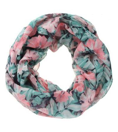 Piece Garedenia Tube Scarf Pink Floral- Zando R179